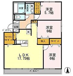 コンフォート今川[3階]の間取り