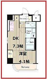 アマーレ北上野 3階1DKの間取り