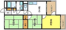 ハイネスアビコ[3階]の間取り