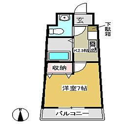 セラヴィ坂崎[903号室]の間取り