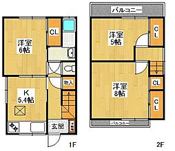 [一戸建] 兵庫県西宮市鳴尾町5丁目 の賃貸【兵庫県 / 西宮市】の間取り