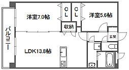 クレヴァフィルマンション[1階]の間取り