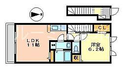 ケイズウエスト神戸[201号室]の間取り