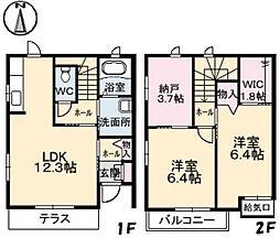 クレイン高須台[1階]の間取り