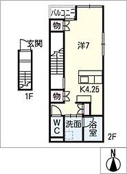 メゾントラスト[2階]の間取り
