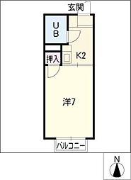 コーポ金子[1階]の間取り