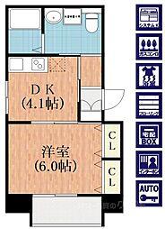大阪府大阪市阿倍野区播磨町3丁目の賃貸マンションの間取り