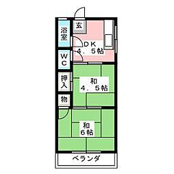 白金ハウス[2階]の間取り