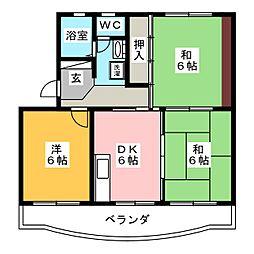 コーポ田中[1階]の間取り