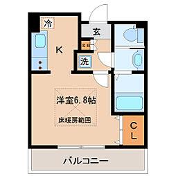 HF仙台レジデンスEAST[4階]の間取り