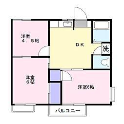 コーポ ウィ[2階]の間取り