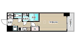 LEGESTA大阪レジデンス 8階1Kの間取り