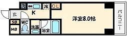 QCFlat北堀江[3階]の間取り