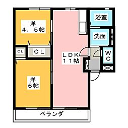 グランシャリオIIIIII[2階]の間取り
