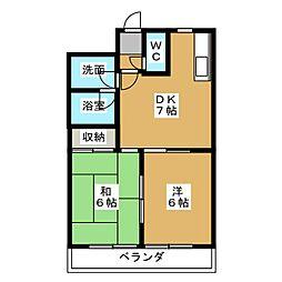 エクセレント373[3階]の間取り