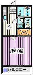 埼玉県さいたま市南区内谷4丁目の賃貸アパートの間取り