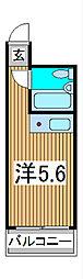 スカイコート西川口第3[5階]の間取り