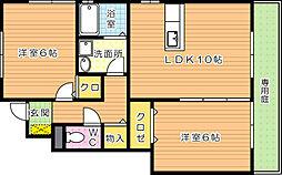 アンバーアーク太田[1階]の間取り