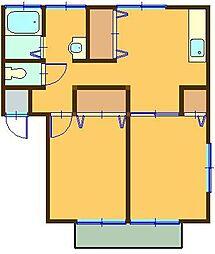 サンロイヤル[C202号室]の間取り