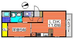 セレナーデA棟[2階]の間取り