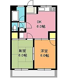 埼玉県上尾市大字今泉の賃貸マンションの間取り