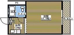 コーポふる里A[205号室]の間取り