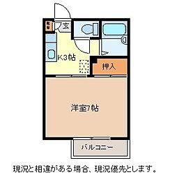 グリーンフラッツN棟[1階]の間取り