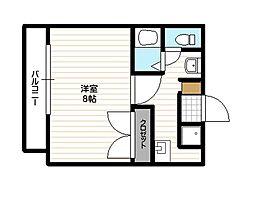福岡県福岡市中央区伊崎の賃貸マンションの間取り