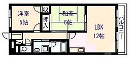 ドリーム松村弐番館[7階]の間取り