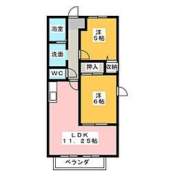 ヴィヴレ平井[2階]の間取り