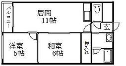 北海道札幌市豊平区西岡四条10丁目の賃貸アパートの間取り