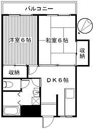 シャンポールF[4階]の間取り