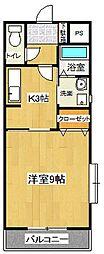 アイビーコート弐番館[2階]の間取り