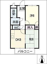 SurplusIIレスト高須[2階]の間取り