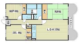 ライオンズマンション広畑正門通[1202号室]の間取り