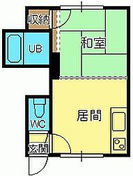 ビアンカマンション[3号室]の間取り