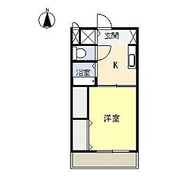 第二コスミック東光[2階]の間取り
