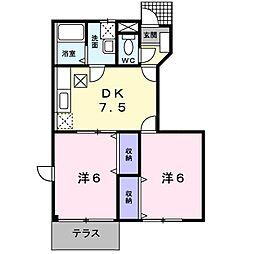 ジョイリバ−II[1階]の間取り