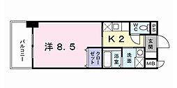 セトル.イン鳳[8階]の間取り