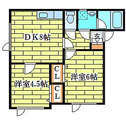 プチ・メゾンノール[1階]の間取り