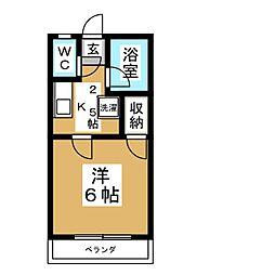 ガーデンイン桜ヶ丘A[2階]の間取り