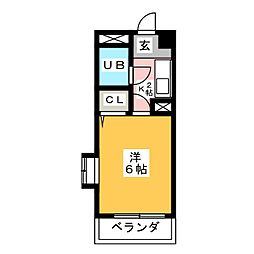 HKビル第2[4階]の間取り