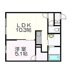 クレセント新札幌[303号室]の間取り