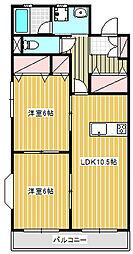 フェンネル鵠沼[3階]の間取り