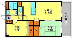 アルペンロ−ゼマンション[7階]の間取り