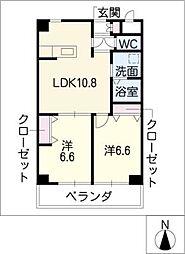 葵21ビル[9階]の間取り