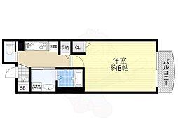 Osaka Metro谷町線 天神橋筋六丁目駅 徒歩1分の賃貸マンション 4階1Kの間取り