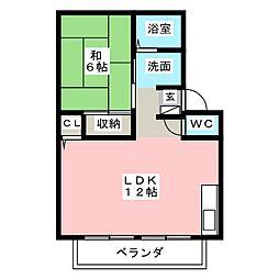 ケイハイツA[2階]の間取り