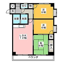 タウンハウス桜山[2階]の間取り