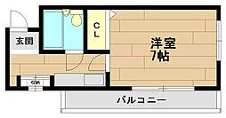六甲セレスコート[2階]の間取り